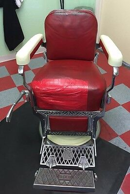 Vintage Koken Porcelain Barber Chair