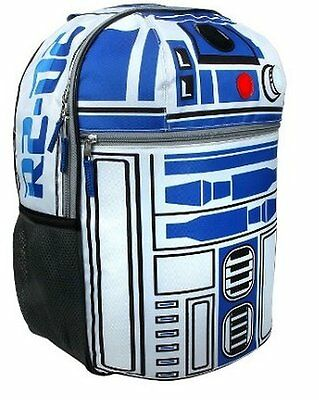 "Disney Star Wars R2D2 On Patrol 16"" Backpack with Lights and Sounds Effects"
