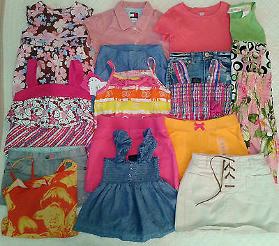 LOT Girls summer lot size 4T 4/5 5T Outfits Shorts Dresses Tops Skirts
