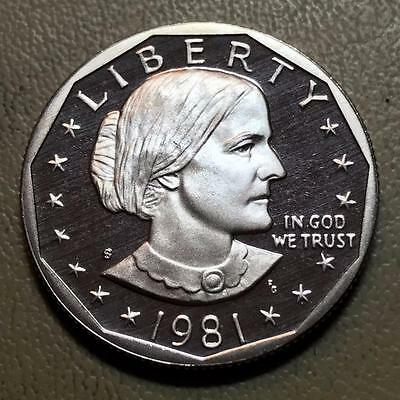 1981-S  Type 2  Susan B. Anthony   Proof   Key Of The Set #6381