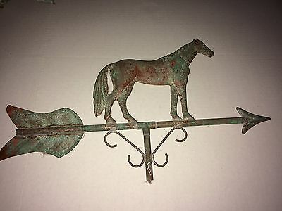 Vintage? Large Copper Running Horse Weathervane with Patina