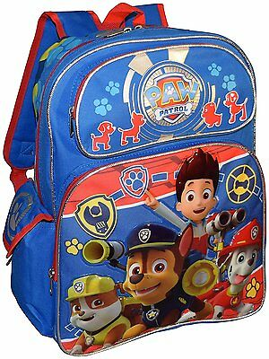 "Nickelodeon PAW Patrol Deluxe 3D Embossed 16"" School Backpack"