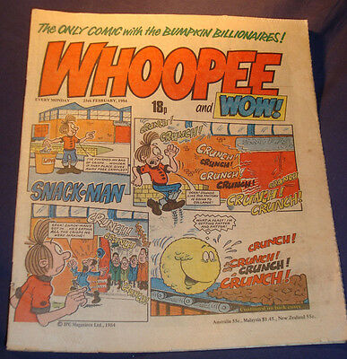 Whoopee and Wow Comic from 25/2/1984