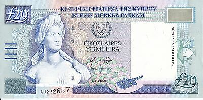 Cyprus, 2004 20 Pounds P63c ((Gem Unc))