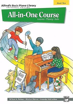 Alfred's Basic Piano All-in-One Course Bk 2: Palmer/Manus/Lethco - 14505