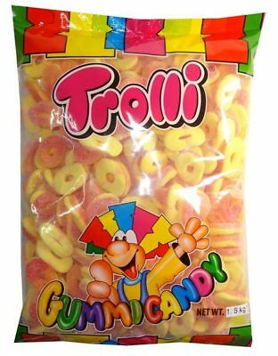 Trolli Sour Peach Rings (1.5kg bag - approx 300 pcs)