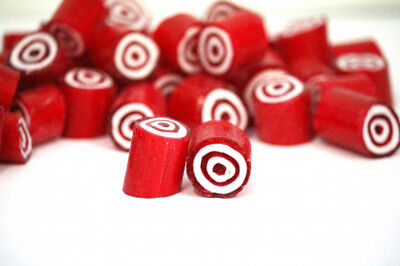 Rock Candy - Red and White - Bulls-eye Center (1kg bag)