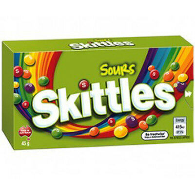 Skittles Sours (45g x 18 boxes in a Display Unit)