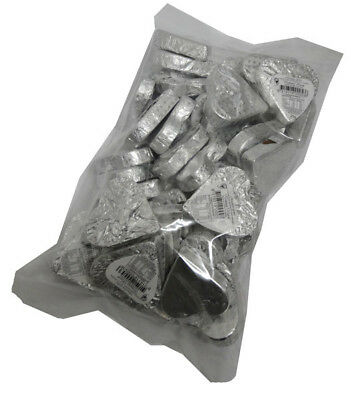 Chocolate Gems - Romeo Hearts - Embossed Silver Foil (1kg bag / approx 39 pie...