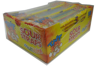 TNT Sour Straps Multicolour Packs (18 x 57g display unit)