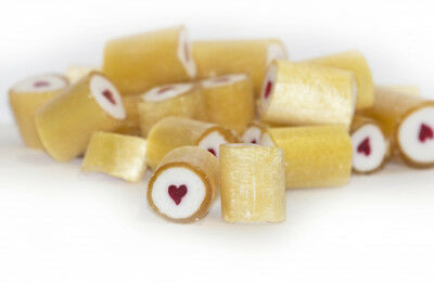 Rock Candy - Gold and White - Red Heart Center (1kg bag)