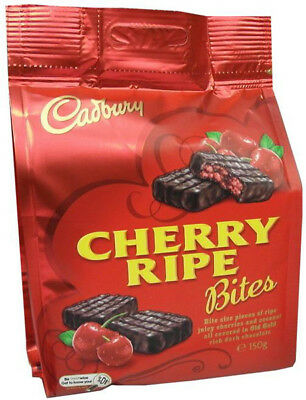 Cadbury Cherry Ripe Bites (150g bag x 10pc box)