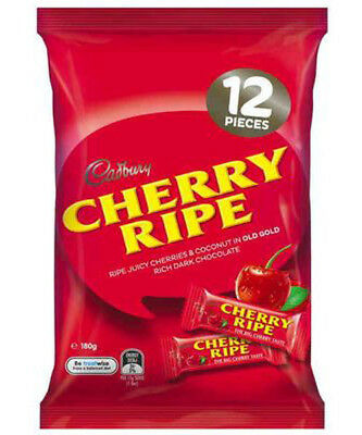 Cadbury Cherry Ripe Sharepack (180g bag x 14pc box)