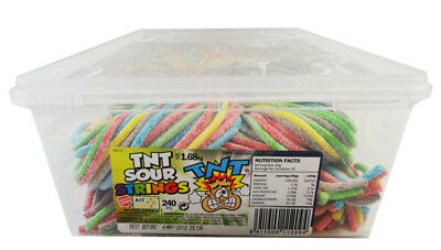 TNT Sour Strings Multicolour (240pc Display unit)