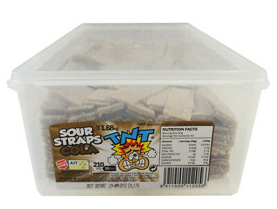 TNT Sour Straps Cola (210 pc Display unit)