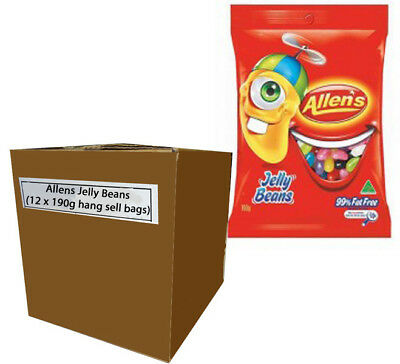 Allens Jelly Beans (12 x 190g hang sell bags)