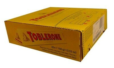 Toblerone Milk Chocolate Bar (20 x 50g bars)