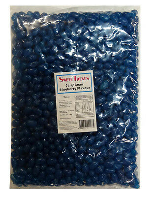 Sweet Treats Mini Jelly Beans - Dark Blue with a Blueberry Flavour (1kg Bag)