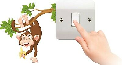 LIGHT SWITCH PLUG SURROUND bedroom WALL ART BOY COVER