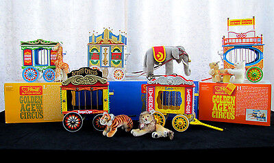 Steiff Golden Age of the Circus Train Complete Set w/ Boxes and Certificates