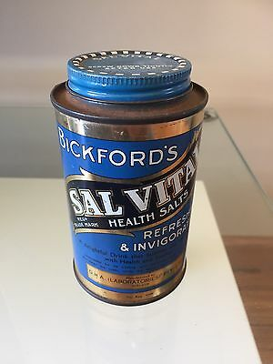 Bickford's SalVital  Australian Collectable Tin Kitchenalia-Excellent Condition