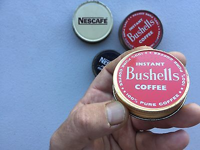 Vintage Bushell's & Nescafé Coffee Lids For Glass Jars.-collectables