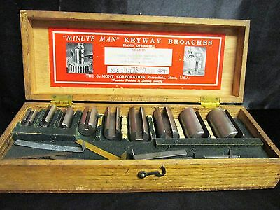 Minute Man KeyWay Broach Set DuMont Corporation No 1 Standard Victor Machinery