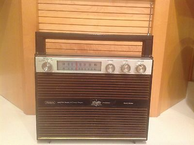 Vintage Sears Solid Statet Portable AM-FM Radio With 8 Track Tape Player