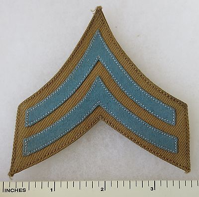 ORIGINAL Pre WW1 Vintage US ARMY INFANTRY BLUE CORPORAL CHEVRON PATCH on TWILL