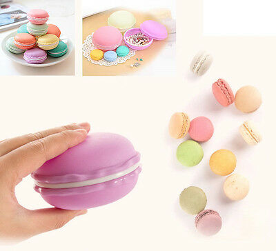 Macaron Shape Gift Jewelry Earrings Ring Pearl Necklace Storage Box Case Small