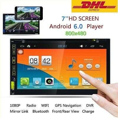 """7""""Double 2DIN Car Radio Stereo DVD Player Quad Core Android 4.4 3G WIFI GPS Nav"""