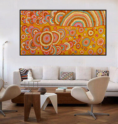 Huge 1300mm by 700mm Aboriginal style painting contemporary art by Anna Narnina