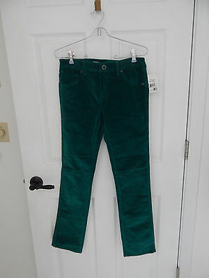 Volcom Jeans 2x4 tight fit straight leg teal green corduroy with tags sz 30