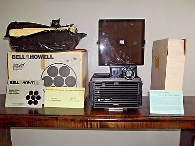 Bell & Howell RF60 Cube System II Slide Projector with Box Manual
