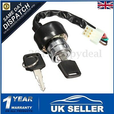 6 Wire Ignition Barrel Switch & Key For Motorcycle Scooter Bike Quad Go-Kart ATV
