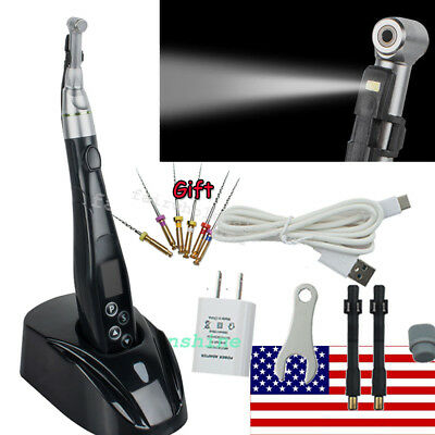 Dental Wireless Endo Motor Root Canal 2 LED Holder 16:1 Reduction Contra Angle