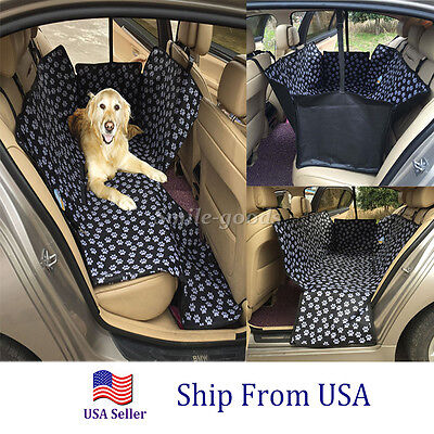 Pet Car Seat Safety Mat Cover Dog Cat Rear Back Seat Protector Hammock Cushion