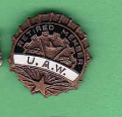 Vintage United Auto Workers (U.A.W.) Retired Member Lapel Pin