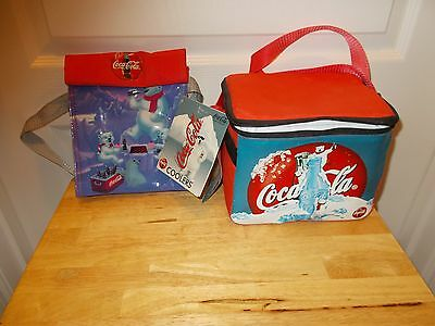 Pair of COCA-COLA COOLERS featuring the POLAR BEARS from 1998 w/Tags