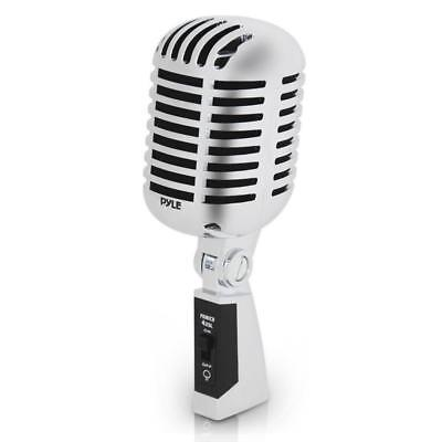 NEW Pyle PDMICR42SL Classic Retro Dynamic Vocal Microphone w/ 16ft Cable