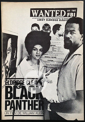ELDRIDGE CLEAVER KATHLEEN Black Panther Party WILLIM KLEIN Pressbook DP 1970
