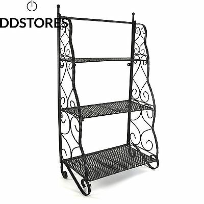 Plant theatre herb and flower stage metal traditional design black
