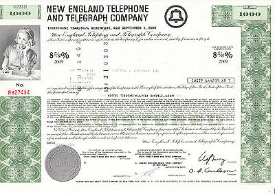 New England Telephone and Telegraph Comp., 1974 - 1000 $ -