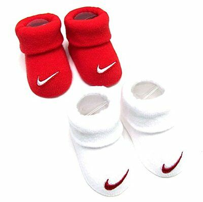 Nike Baby Boys' Booties Infant Socks, 2 Pack, 0-6 Months US