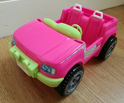 Vintage 1999 Barbie Jeep Pink/Green Good Condition