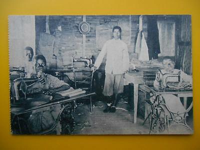 RR PP Redeemers Mission MATADI Belgian Congo Africa c1910 Boys Sewing Machines