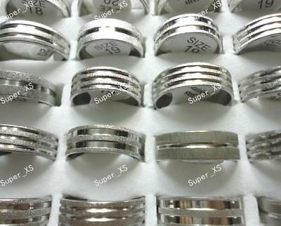 10pcs wholesale nice jewelry mixed Scrub stainless steel rings free shipping
