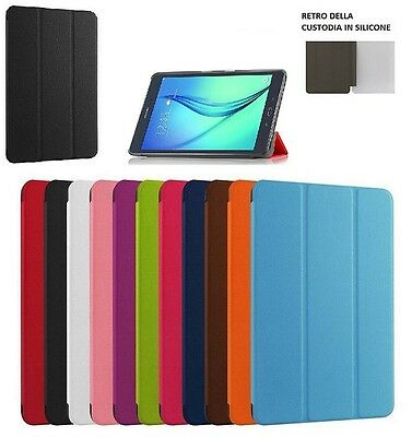 Smart Cover Per Samsung Galaxy Tab A 9.7 Sm-T550 Sm-T555 Custodia Slim Tablet---