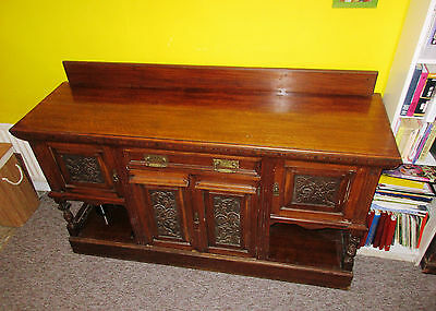 Large beautiful French Solid Oak Carved Sideboard Buffet Dresser in London