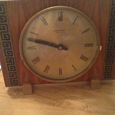 Vintage Splendex Electronic Mantel  Clock For Spares Only